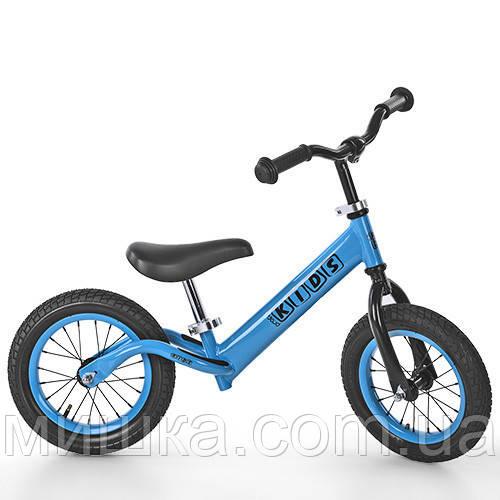 """Детский стильный беговел PROFI KIDS M 3844A-1 12"""" голубой"""