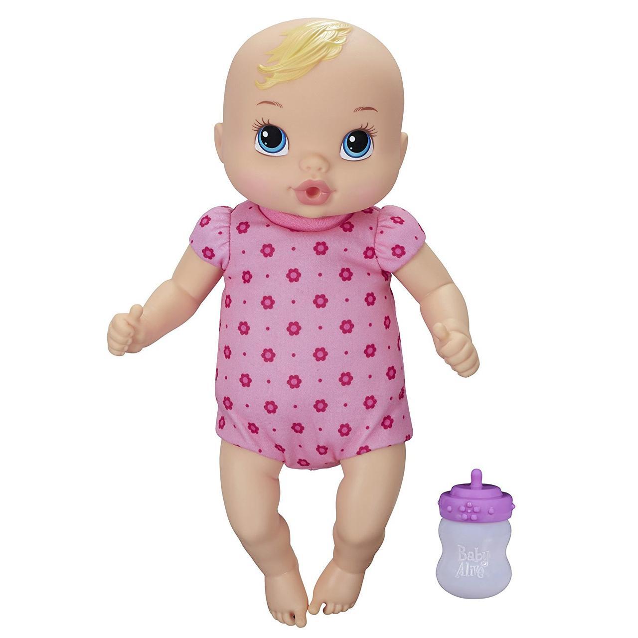 Baby Alive Кукла Пупс младенец блондинка