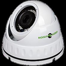 Антивандальная AHD камера для внутренней и наружной установки Green Vision GV-022-AHD-E-DOA10-20