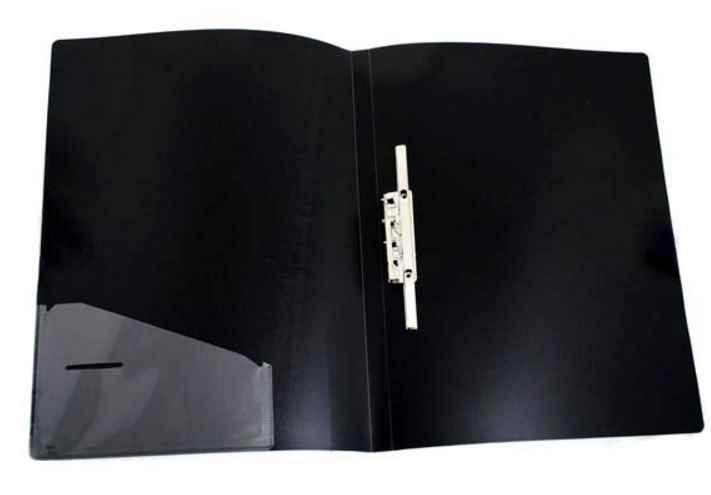 Папка 4 Office, 4-217, А4, з довгиим притиском + кишеня, чорна