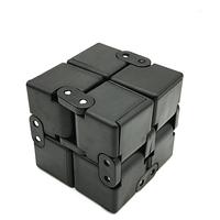 Бесконечный кубик Антистресс Infinity Cube Fidget Toy. Металлические шарниры серый