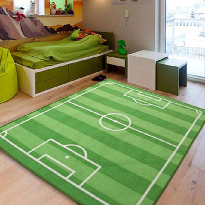 Детский коврик на резиновой основе футбольное поле