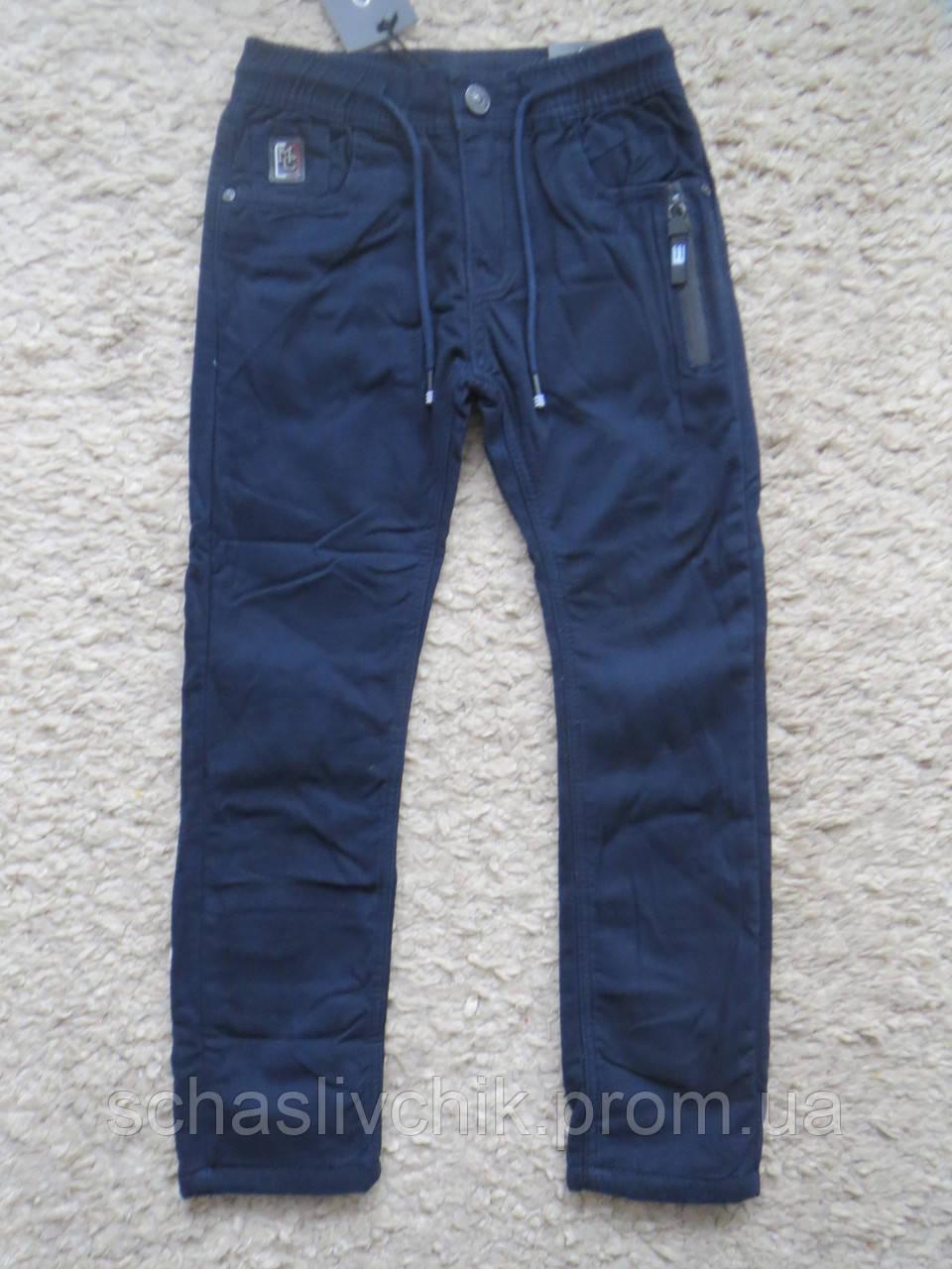 Котоновые брюки, Джинсы для мальчиков на флисе с Венгрии оптом , размер 116-146, фирма Grace