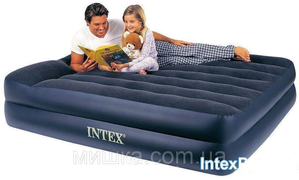 Надувная двухспальная кровать 152*203*42 Intex 64124  с встроенным эл. насосом 220V