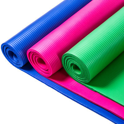 Йогамат и коврик для фитнеса NBR 1800х800х10мм цвета в ассортименте
