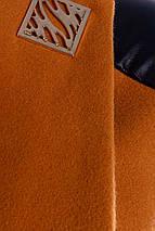 Пальто кашемірове, пальтовая тканина, вставки еко-шкіра, приталеного силуету, без ворота, дві кишені р. S 5269М, фото 3