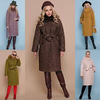 Женское зимнее пальто с натуральным мехом №302-100 (р.42-56)