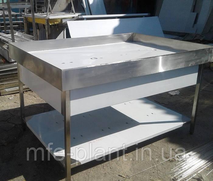 Столы производственные для выкладки и демонстрации рыбы