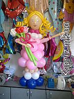 Принцесса с розами из шаров