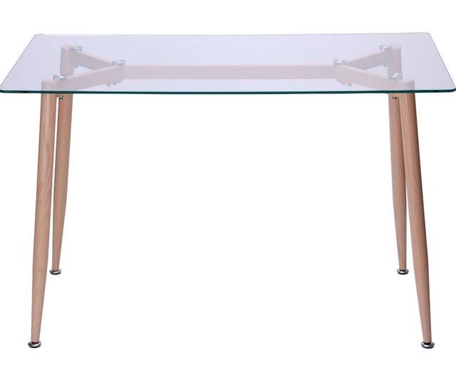 Стол обеденный Tilia Каркас бук/стекло прозрачное (фото 2)