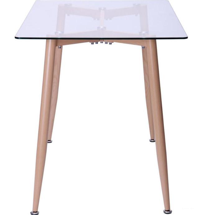 Стол обеденный Tilia Каркас бук/стекло прозрачное (фото 3)