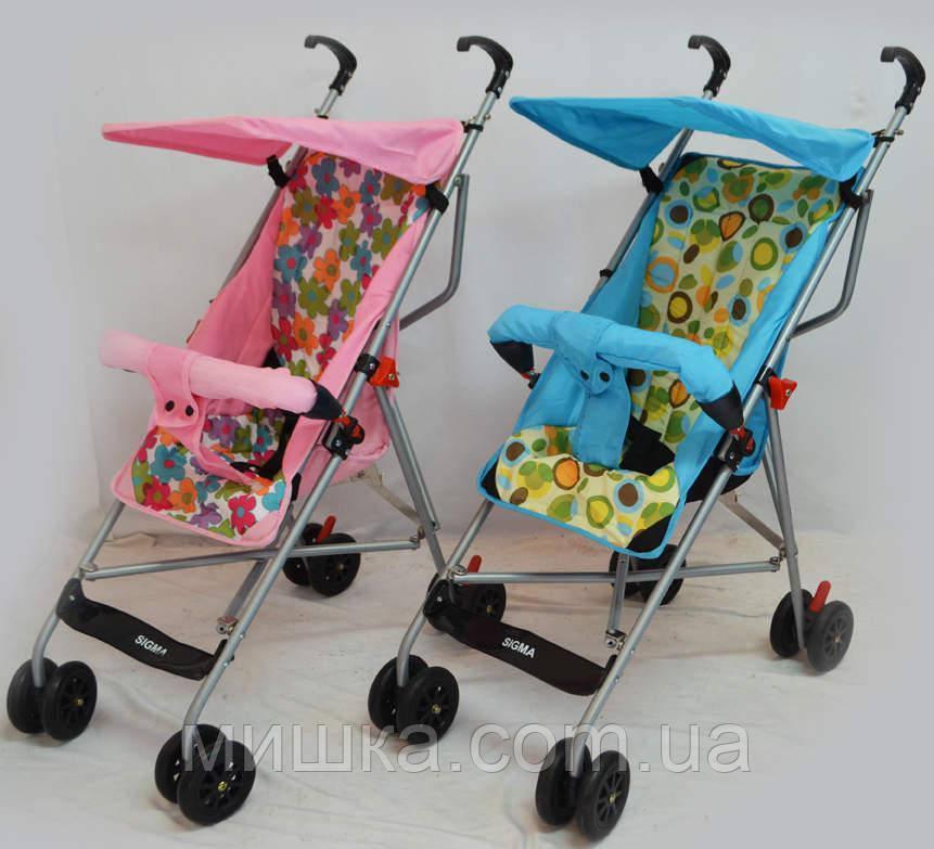 Детская прогулочная коляска Sigma S-A-1 голубая