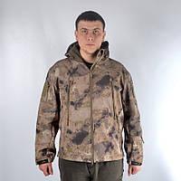 Камуфляжная куртка с капюшоном и флисом