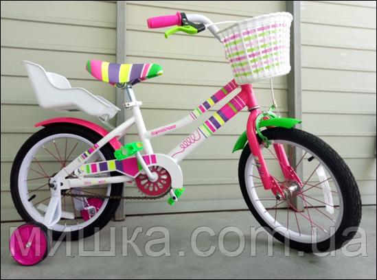 """Велосипед стильный детский TopRider """"Litlle Miss"""" 16"""" розовый"""