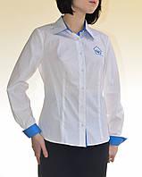 Пошив корпоративных комбинированных  блуз и рубашек с длинным рукавом
