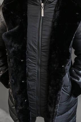ПАЛЬТО ЖЕНСКОЕ ЗИМНЕЕ SNOWPASSION (ПЛАЩЕВКА+ДУБЛЕНКА) , фото 2