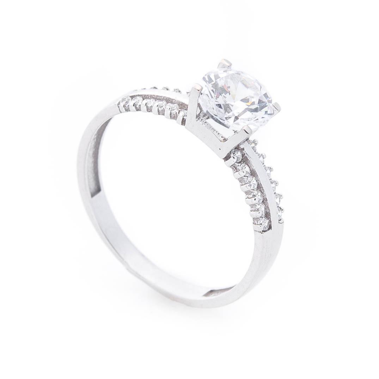 Золотое помолвочное кольцо (фианиты) гк03010