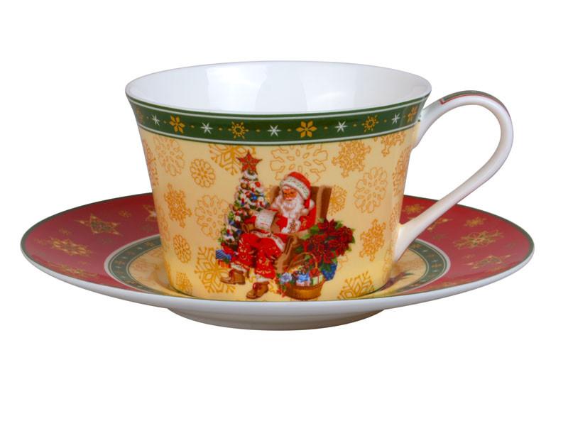 """Чайный набор """"Christmas collection"""" 2 предмета 180 мл, Lefard, 986-053"""