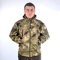 Камуфляжная куртка с капюшоном и флисом расцветки жабы