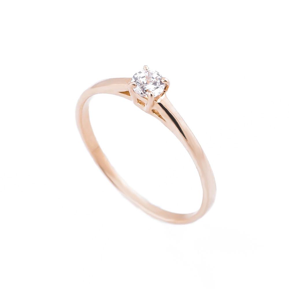 Золотое помолвочное кольцо с фианитом гк05204