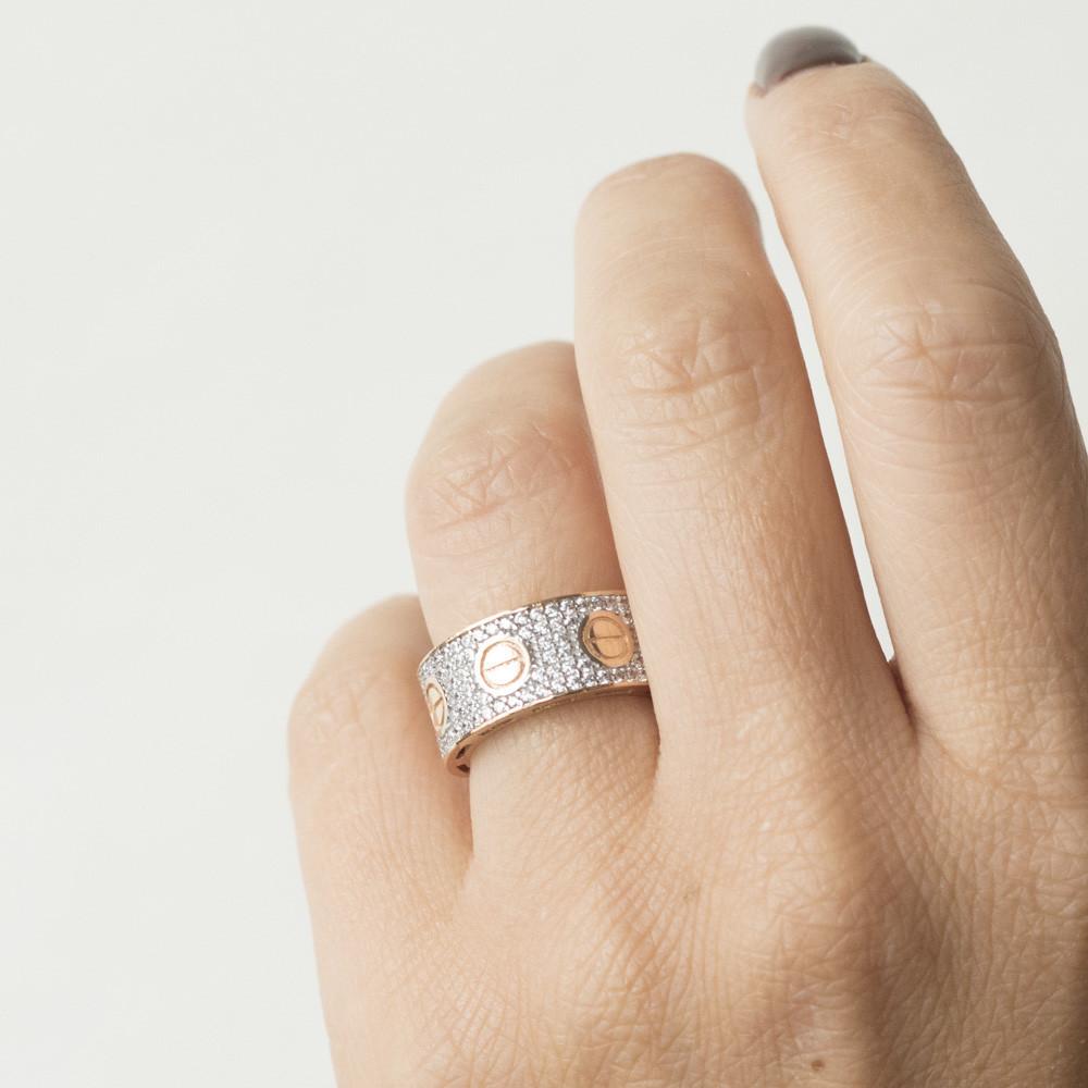 Золотое кольцо с фианитами гк05225