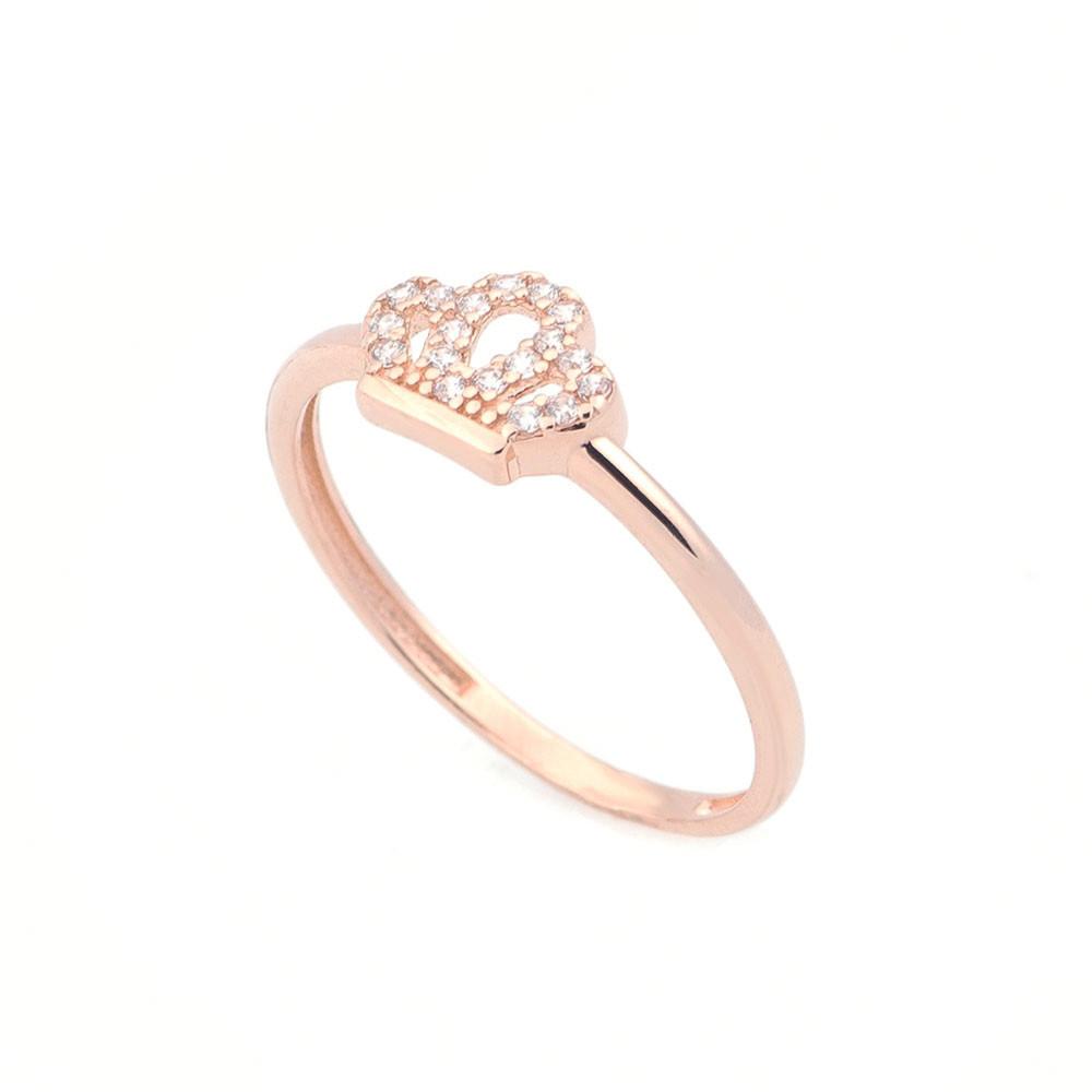 """Золотое кольцо """"Корона с фианитами"""" гк05324"""