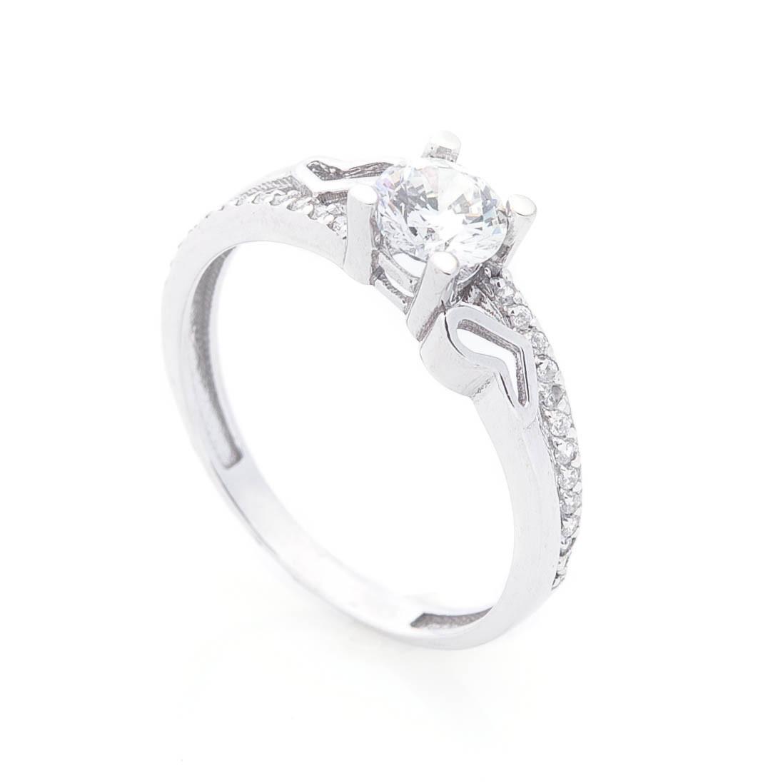 Золотое помолвочное кольцо (фианиты) гк05203