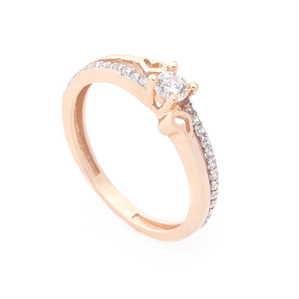 Золотое помолвочное кольцо (фианиты) гк04769