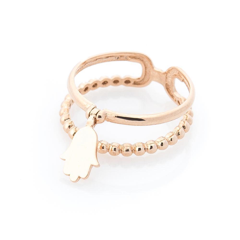 """Золотое кольцо """"Хамса"""" гк05533"""