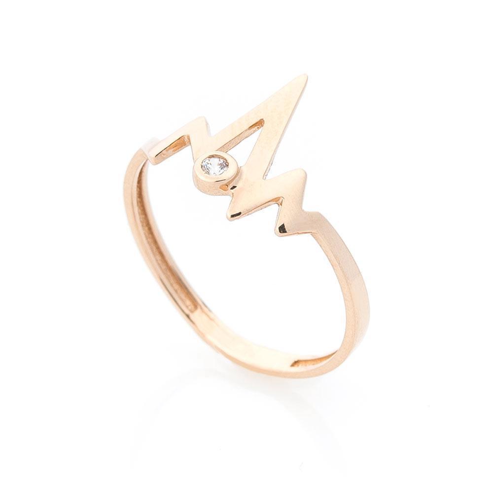 """Золотое кольцо """"Импульс"""" (фианит) гк05535"""