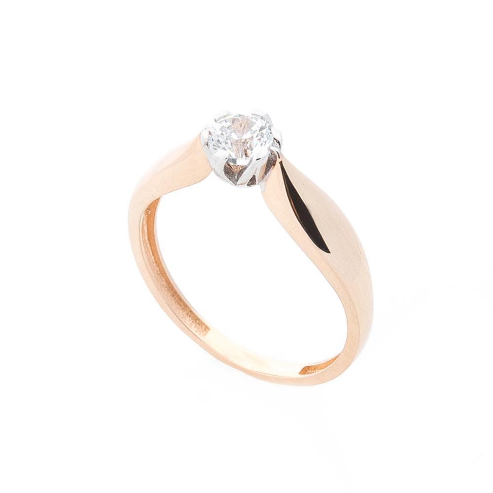 Золотое помолвочное кольцо с фианитом гк05242