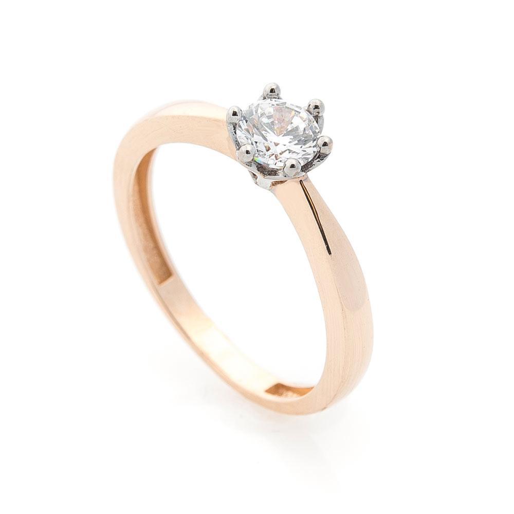 Кольцо для помолвки золотое женское гк05587