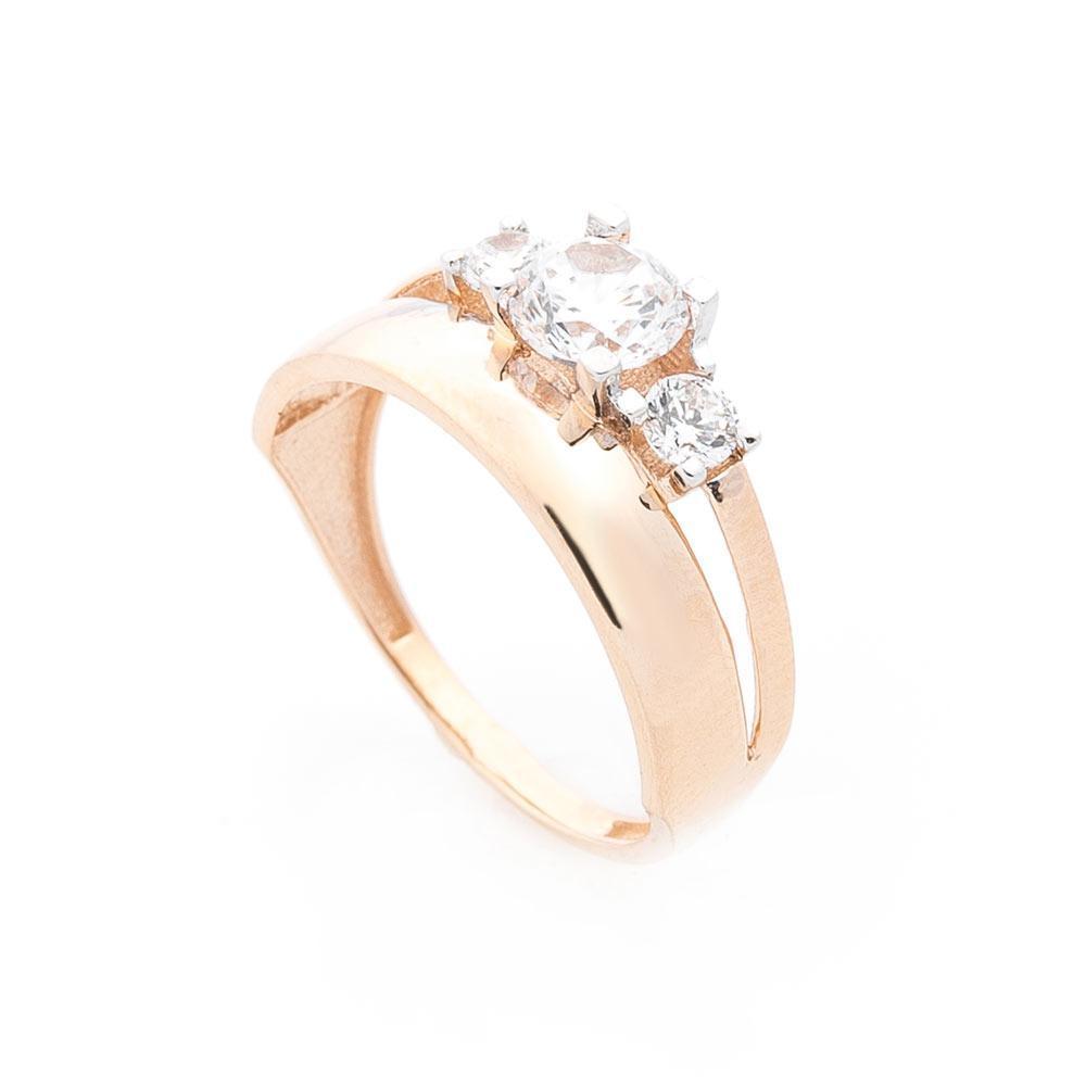 Золотое кольцо с фианитами гк05709