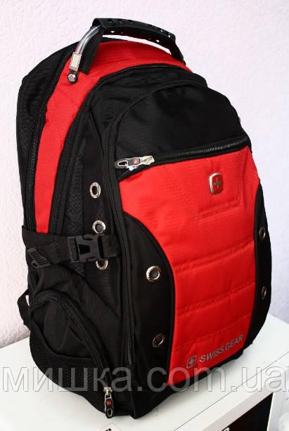 Рюкзак swissgear 1535 USB & AUX & дождевик красный