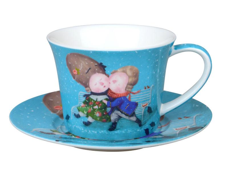 """Чайный набор 2 предмета  """"Первый поцелуй"""", Lefard, 924-343"""