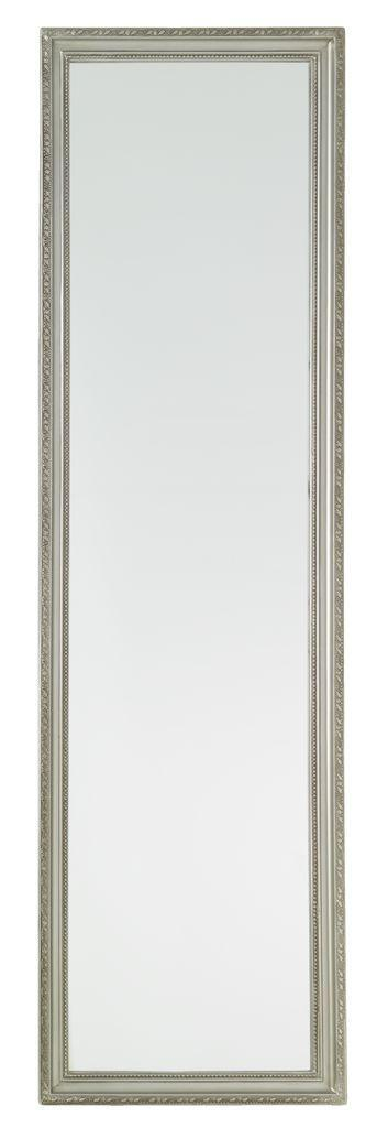 Большое настенное зеркало 36х124см серебро