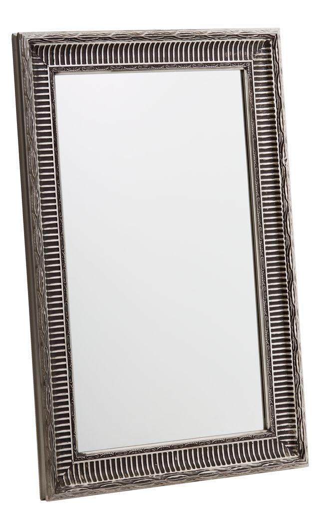 Большое прямоугольное настенное зеркало в рамке 70х90см серебристый