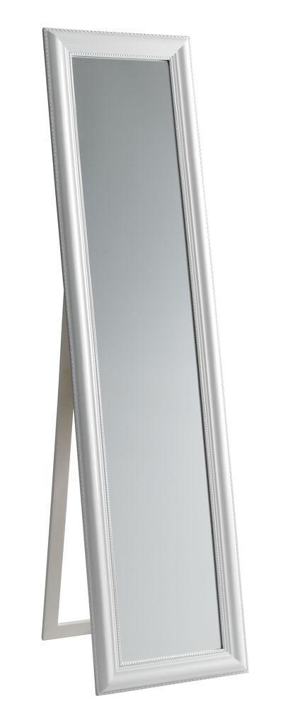 Большое напольное прямоугольное зеркало с ножкой 40х160см глянец