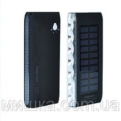 Power Bank Solar LED SIDE 10000 mAh, black
