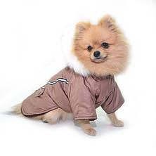 Курточка для собак Осень, коричневая, фото 2