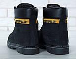 Зимові жіночі черевики Caterpillar з хутром black (cat). Живе фото. (Репліка ААА+), фото 3