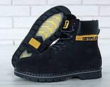 Зимові жіночі черевики Caterpillar з хутром black (cat). Живе фото. (Репліка ААА+), фото 4