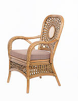 Кресло CRUZO Ацтека натуральный ротанг светло коричневый