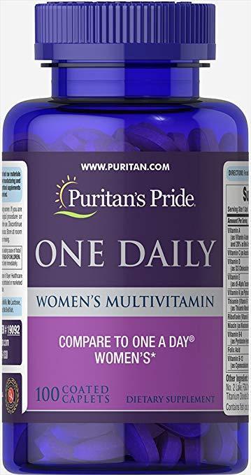 Puritan's Pride One Daily Women's Multivitamin 100 caps