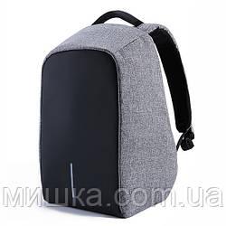 Универсальный рюкзак АнтиВор для работы, учебы и путешествийВзрослая, Серый, 12, Городской