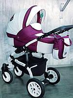 """Универсальная детская коляска 2 в 1 """"Sherry Lux"""" White Purple"""