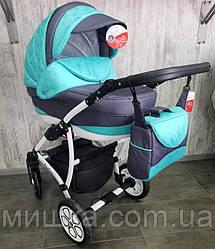 """Универсальная детская коляска 2 в 1 """"AVALON"""" Grey-Blue"""