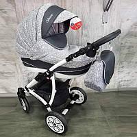 """Всесезонная детская коляска 2 в 1 """"AVALON BUENO"""" Gray-flowers"""
