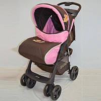 Детская коляска Sigma S-K-6F Brown-pink прогулочная
