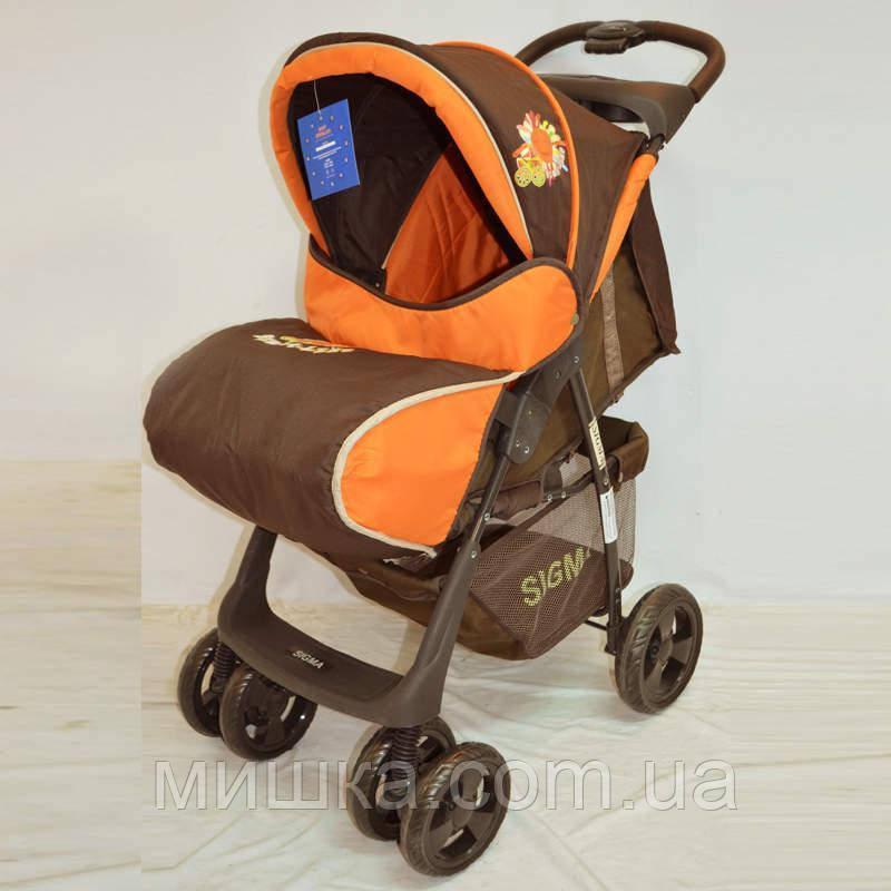 Детская коляска Sigma S-K-6F Brown-orange прогулочная